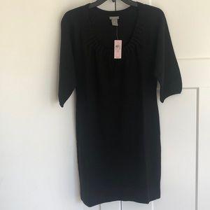 Ann Taylor Petite Black merino wool dress